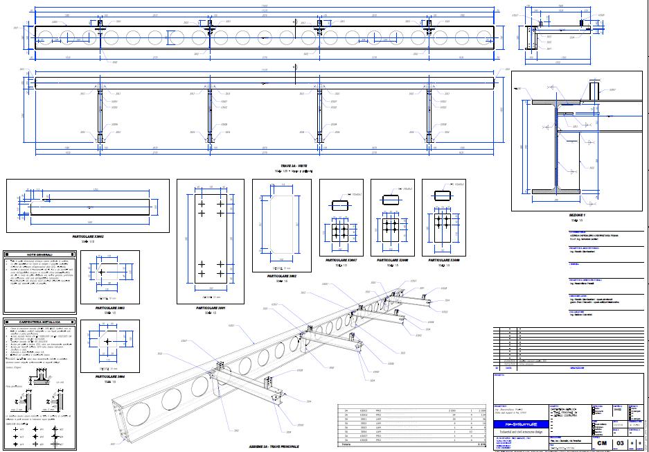 Progettazione strutturale con sketchup: tavola del progetto esecutivo