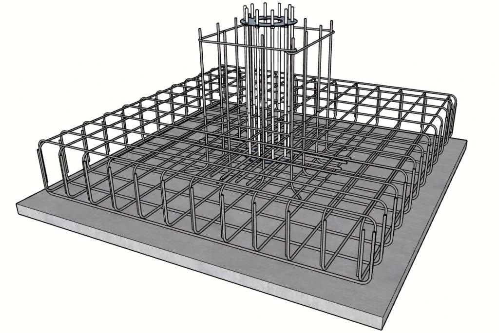 Progettazione strutturale con sketchup: dettagli di armatura