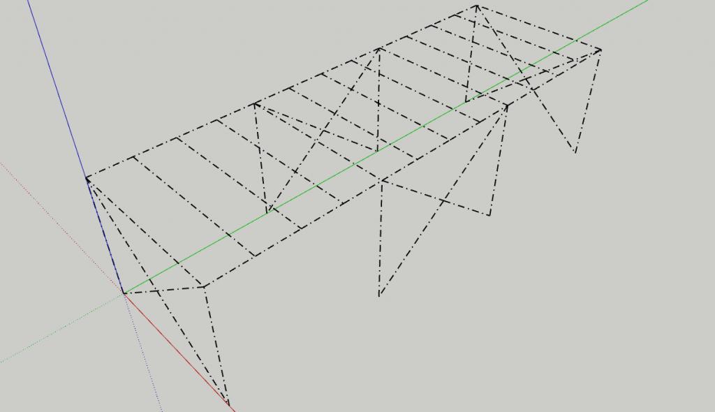 Lo schema unifilare della struttura in acciaio