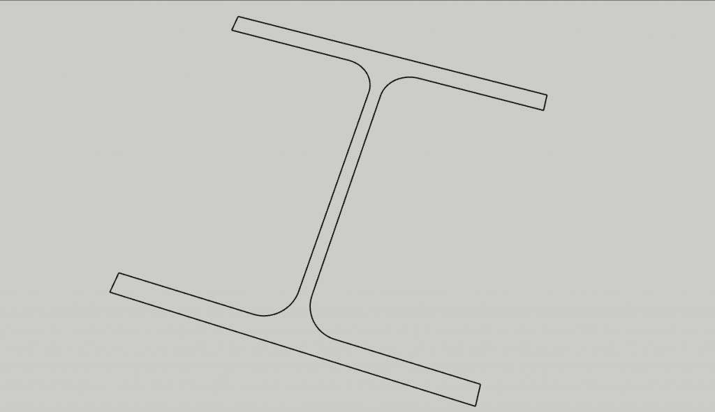 Sagoma di un HEA160 importata da AutoCAD