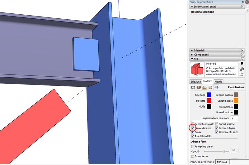 Figura 11, l'impostazione dello stile con l'opzione colora da layer
