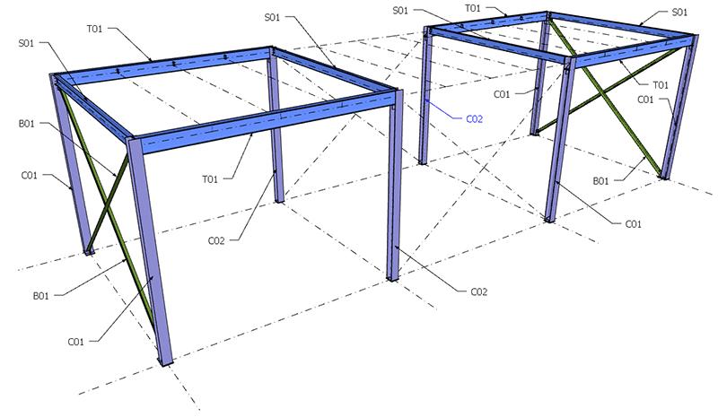Figura 16, il soppalco in acciaio dopo la terza parte
