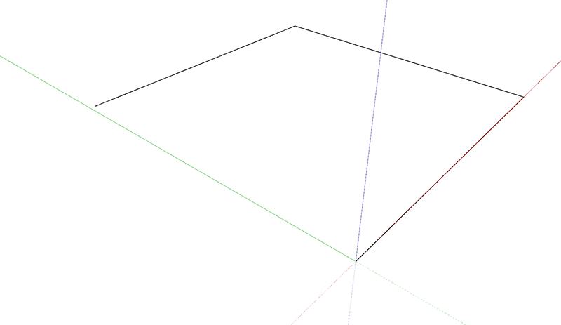 Figura 1 - primi tre lati della staffa