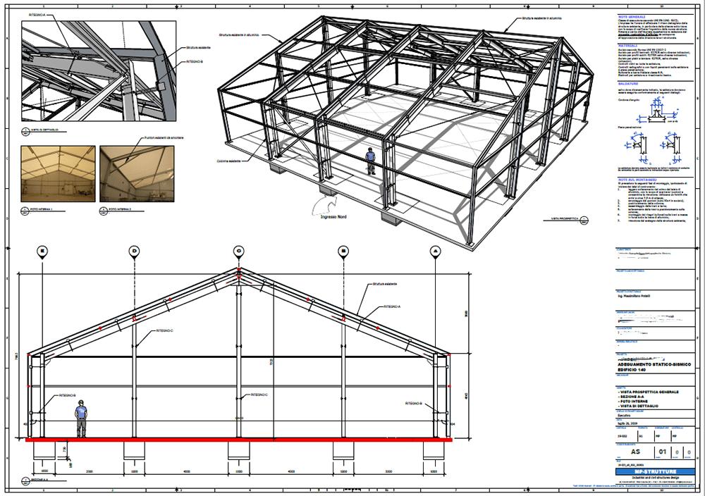 Figura 3 - Vista prospettica e sezione
