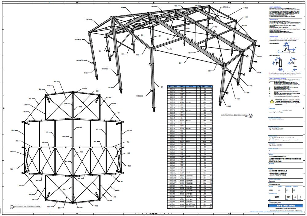 Figura 4 - Assieme generale di un edificio in acciaio