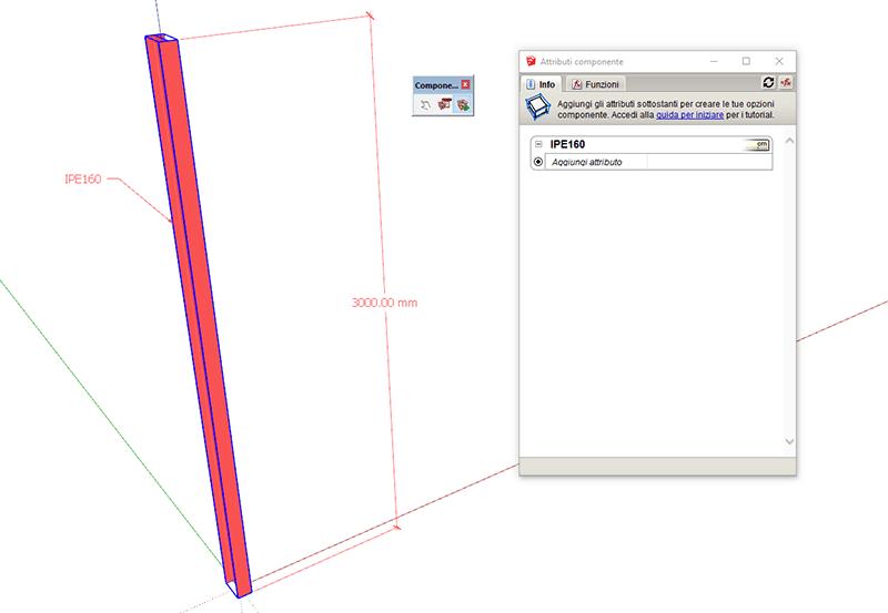 Figura 1 - Esempio di componente, creazione degli attributi