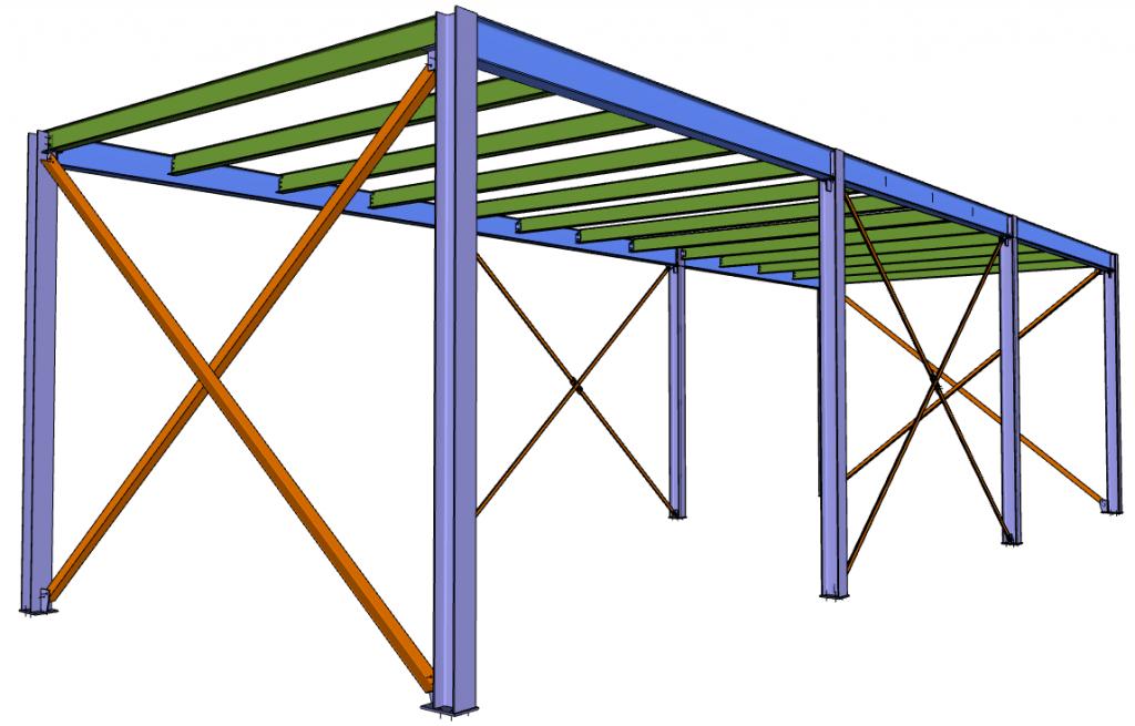 Figura 1 - Il soppalco usato per il tutorial