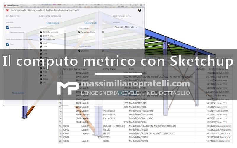 Il computo metrico con Sketchup