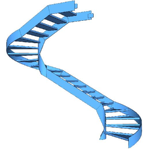 La seconda rampa della scala metallica