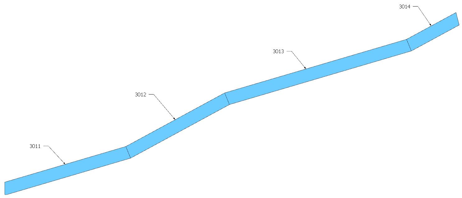 Figura 5 - Sviluppo dei piatti esterni della rampa 2.