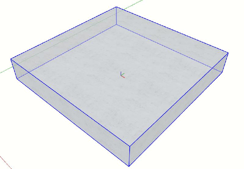 Figura 3 - Componenti dinamici in Sketchup - Creazione del componente di base