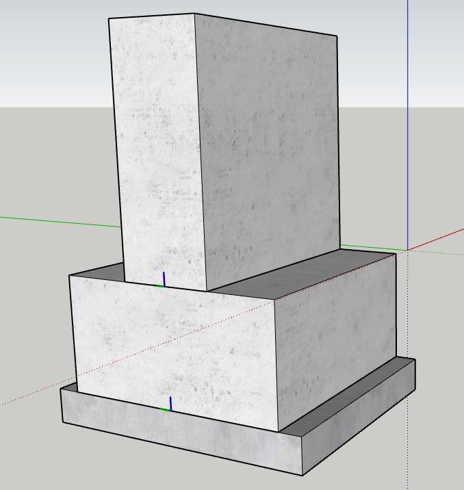Figura 1 - Definizione della geometria dei componenti di base - Componenti dinamici Sketchup - Trave rovescia