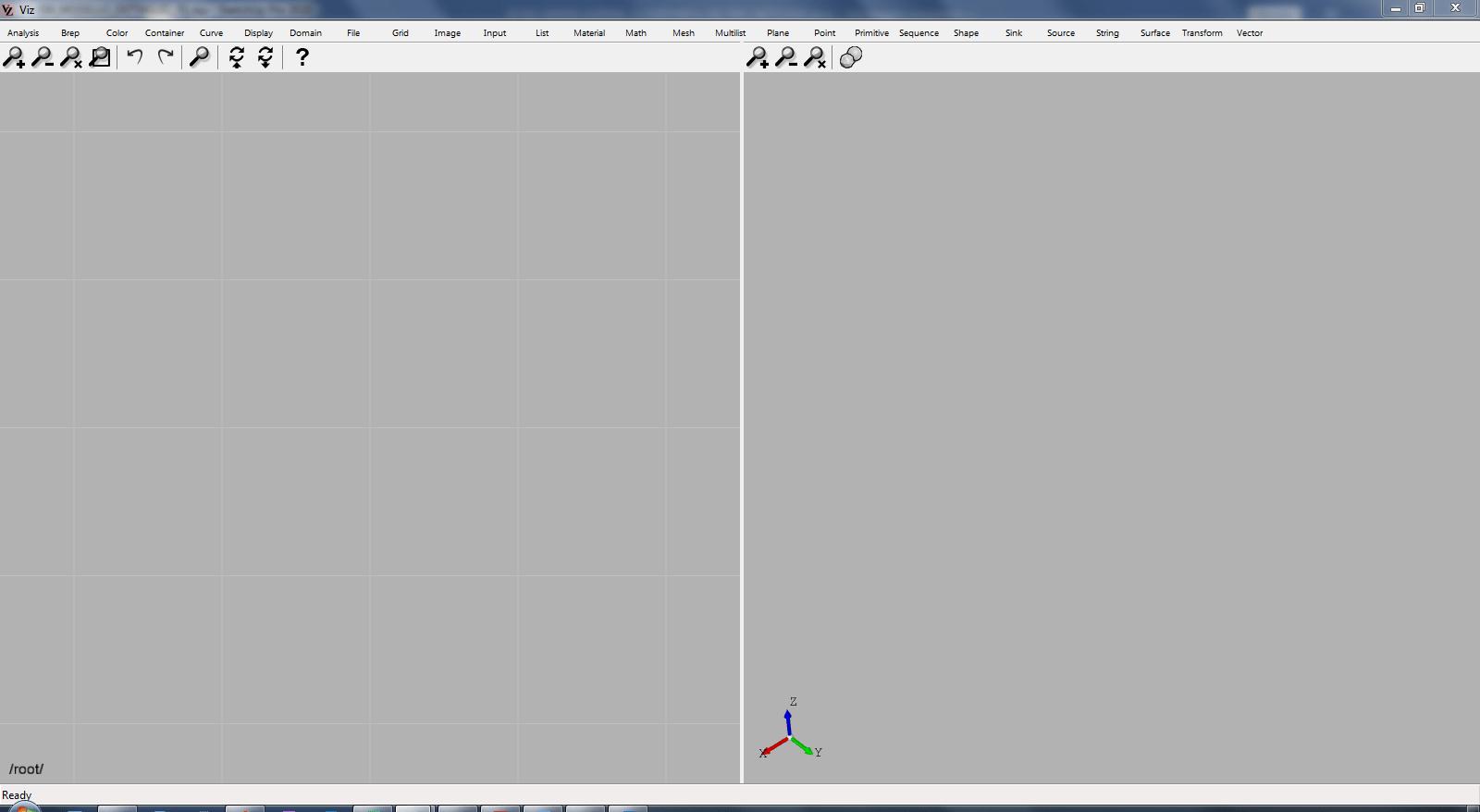 Finestra principale del software Viz Pro 2