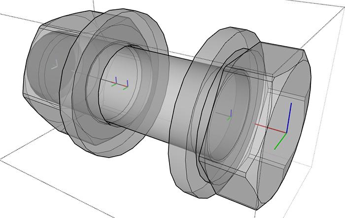 Figura 5 - Assi dei componenti.