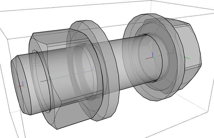 Figura 6 - Assi dei componenti.