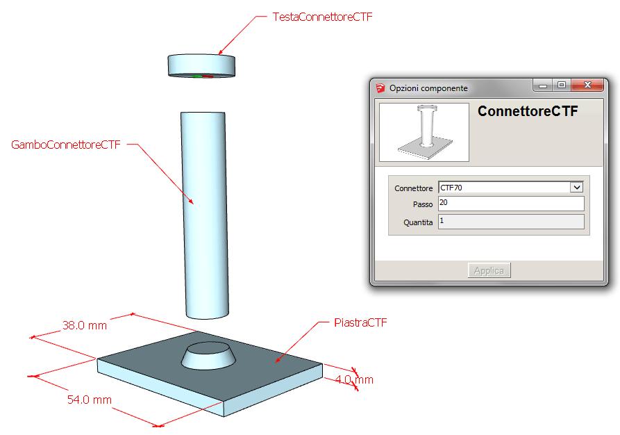 Figura 1 - Scelta della scomposizione degli elementi da modellare