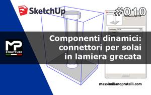 Sketchup BIM: connettori a piolo in acciaio