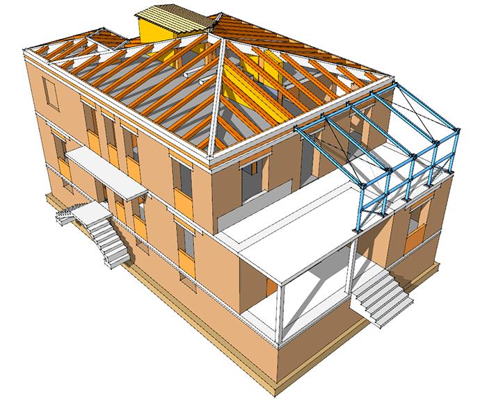 Figura 2 - Uso di Sketchup per gli interventi su strutture esistenti