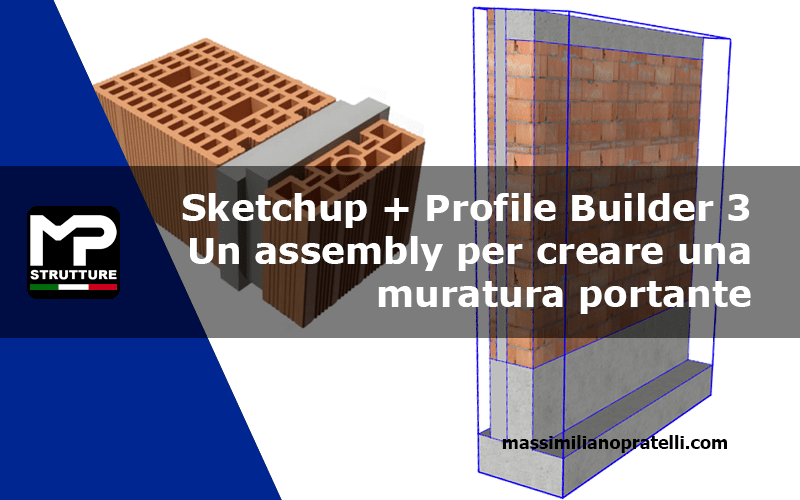 Assembly di una parete con Sketchup
