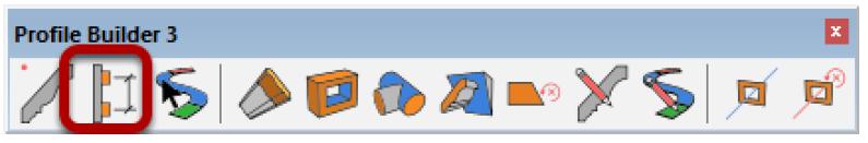 La barra degli strumenti di Profile Builder 3