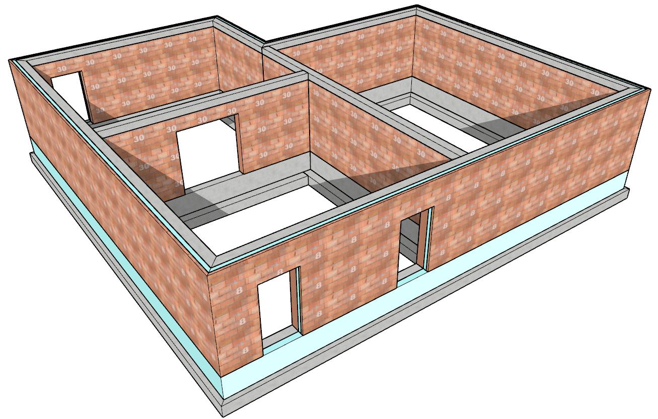 Un esempio di muratuara realizzata con gli assembly definiti